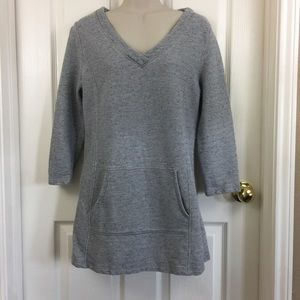 Liz Claiborne Weekend Gray Tunic Sweater
